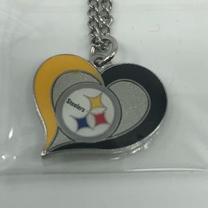 Pittsburgh Steelers Heart Pendant